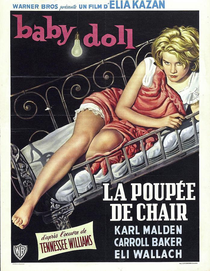 baby Doll Movie Poster 1956 Mixed Media