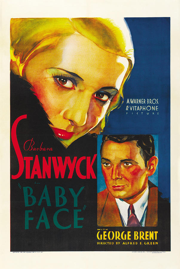 baby Face, With Barbara Stanwyck, 1933 Mixed Media