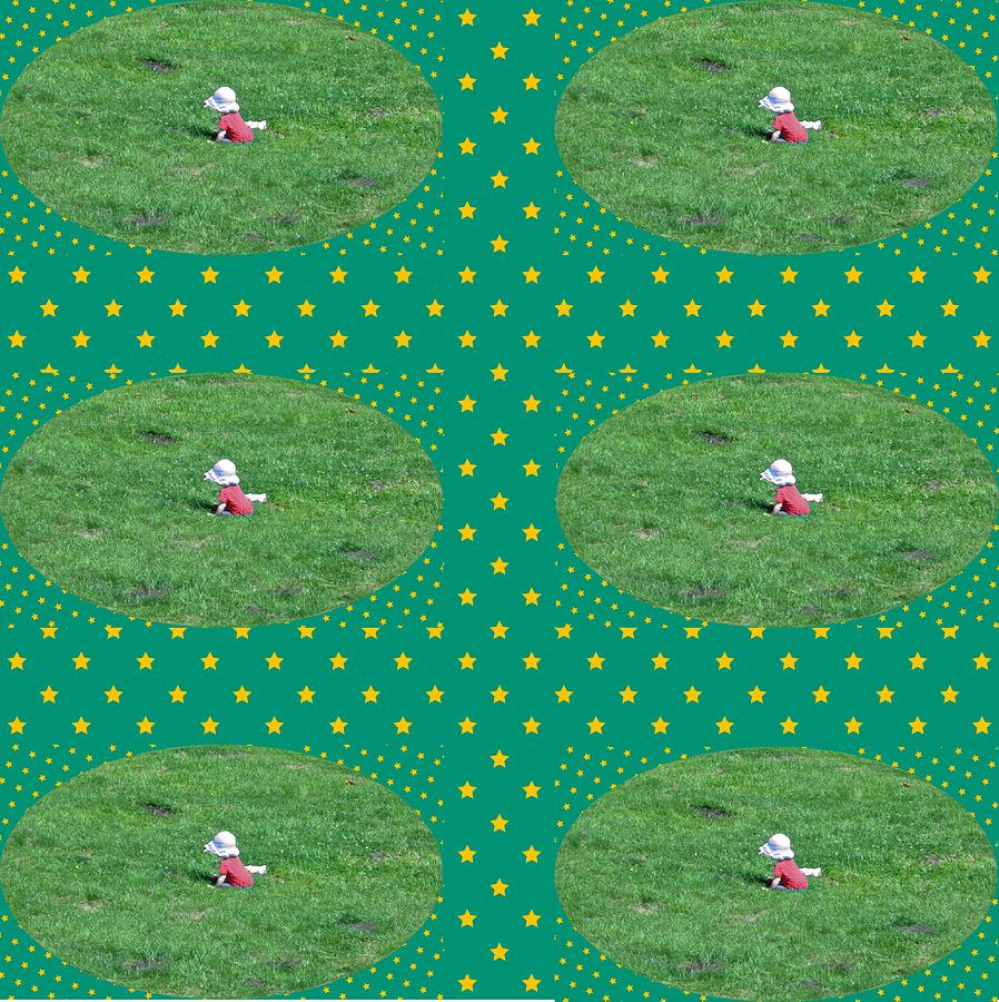 Baby on the Lawn Patchwork by Wilma Barnwell
