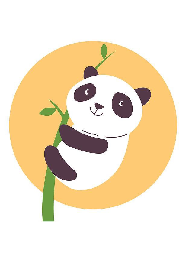Baby Panda Hugging An Eucalyptus Plant Digital Art By Passion Loft