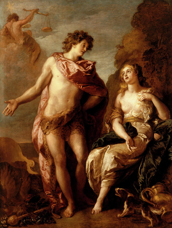 Fosse Painting - Bacchus And Ariadne, 1699 by Charles de La Fosse