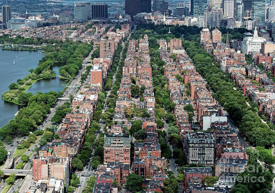 Back Bay Photograph - Back Bay Boston Real Estate Aerial by David Oppenheimer
