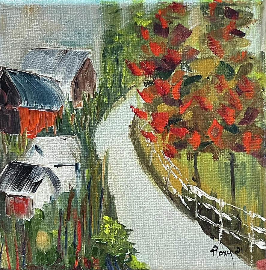 Barn Painting - Back Country Barns by Roxy Rich