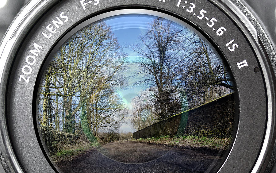 Back Street Reflection Digital Art