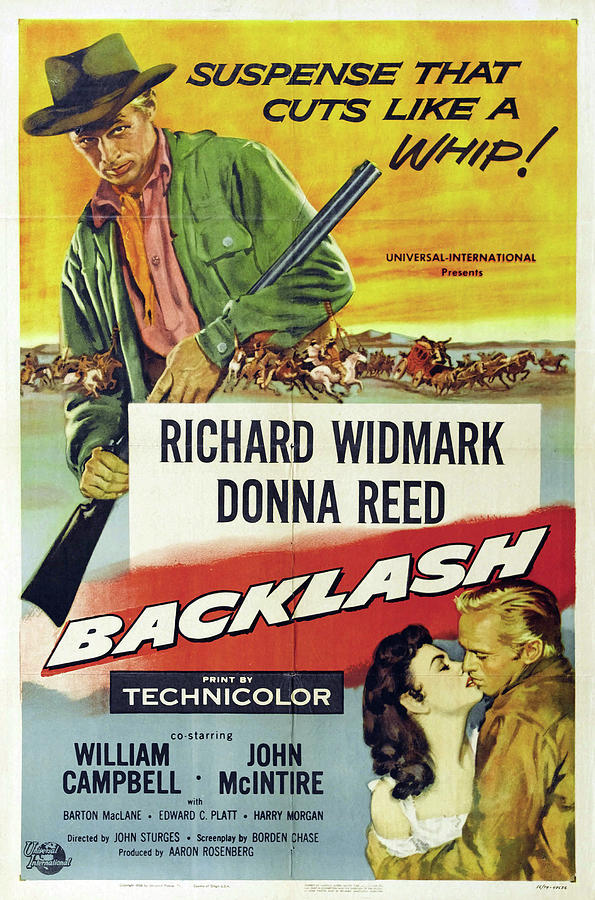 backlash, With Richard Widmark And Donna Reed, 1956 Mixed Media