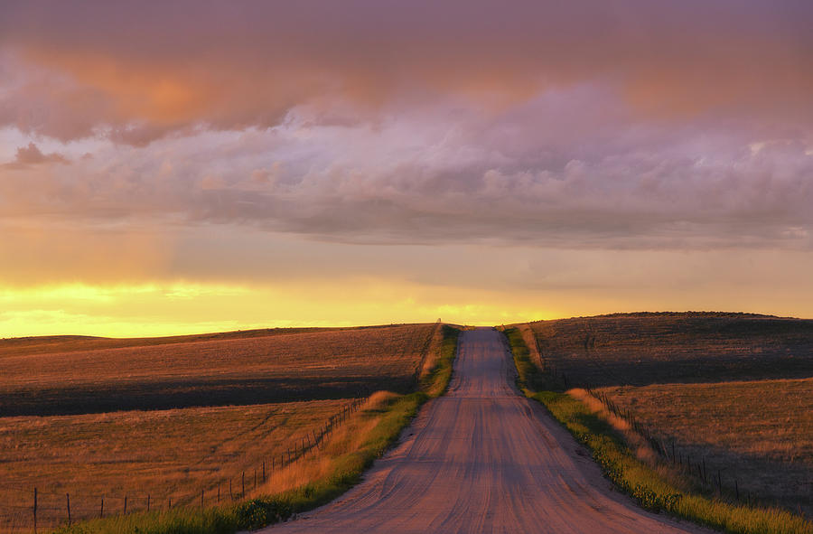 Backroads Sunset Photograph
