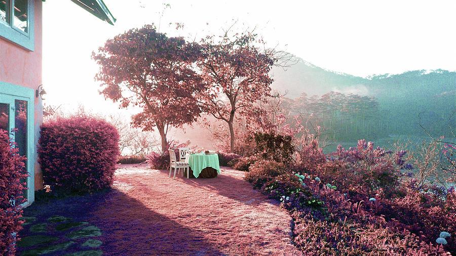 Backyard Table - Surreal Art By Ahmet Asar Digital Art