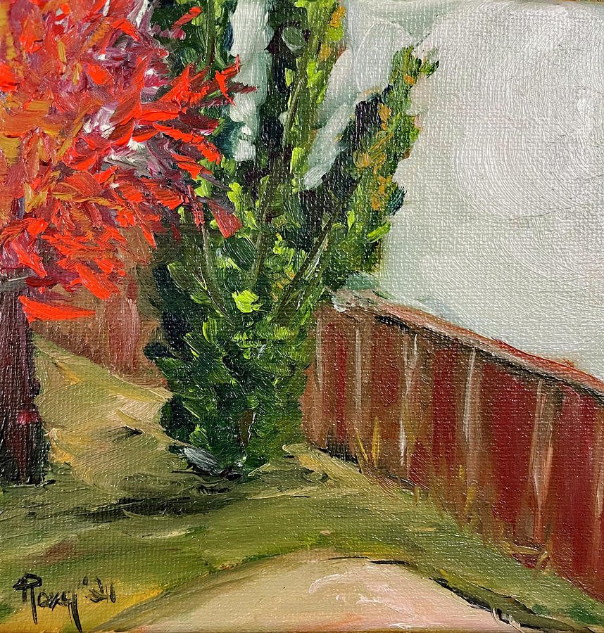 Backyard Trees Murrieta Painting