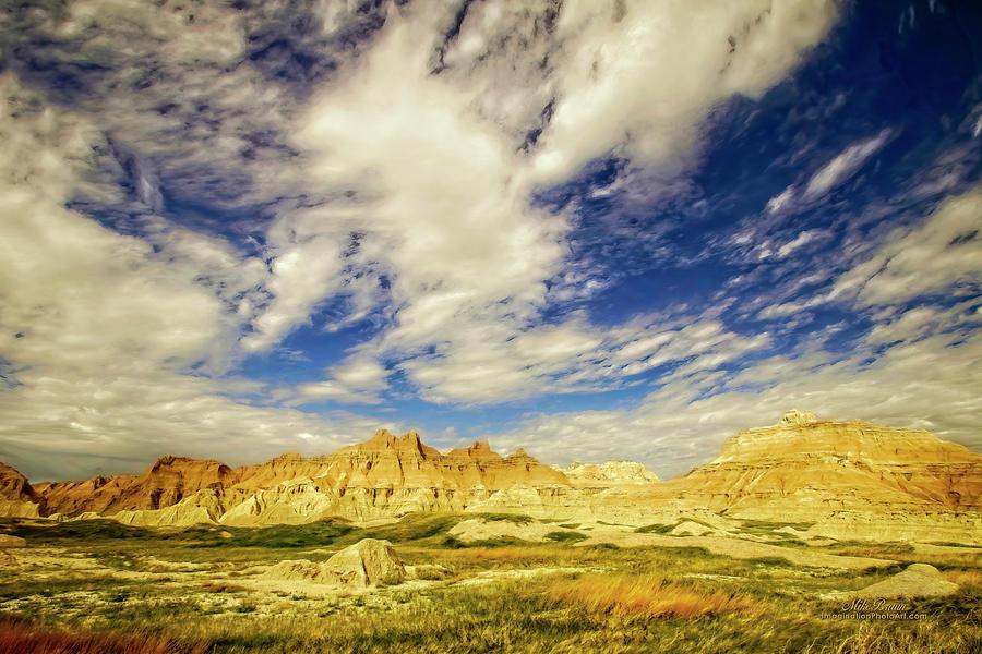 Badlands Photograph - Badlands Showdown by Mike Braun