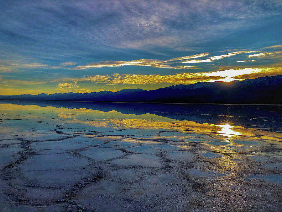 Badwater Reflections by George Buxbaum