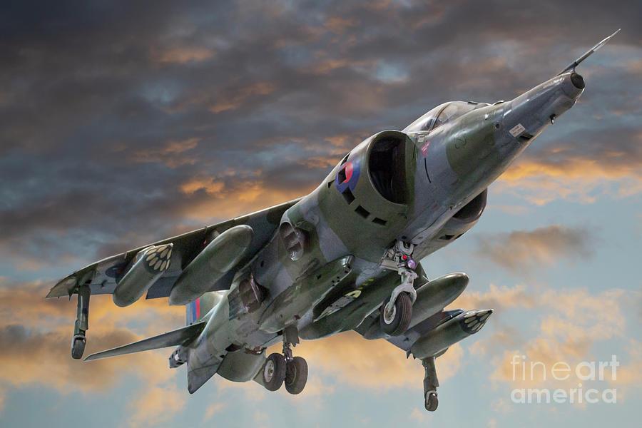 Harrier Photograph - BAe Harrier GR.3 XZ133 by Simon Pocklington