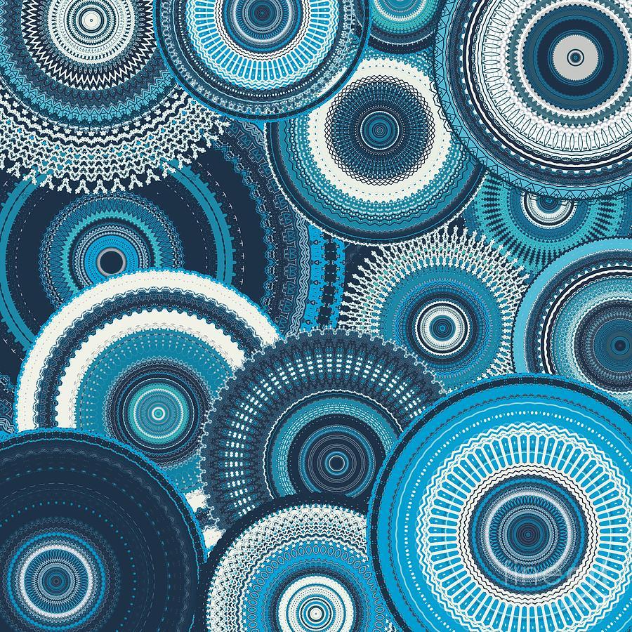 Bag Of Blue Mandalas Digital Art
