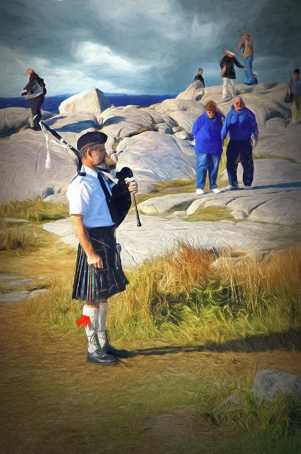 Bagpipes at Peggy's Cove by PAUL COCO