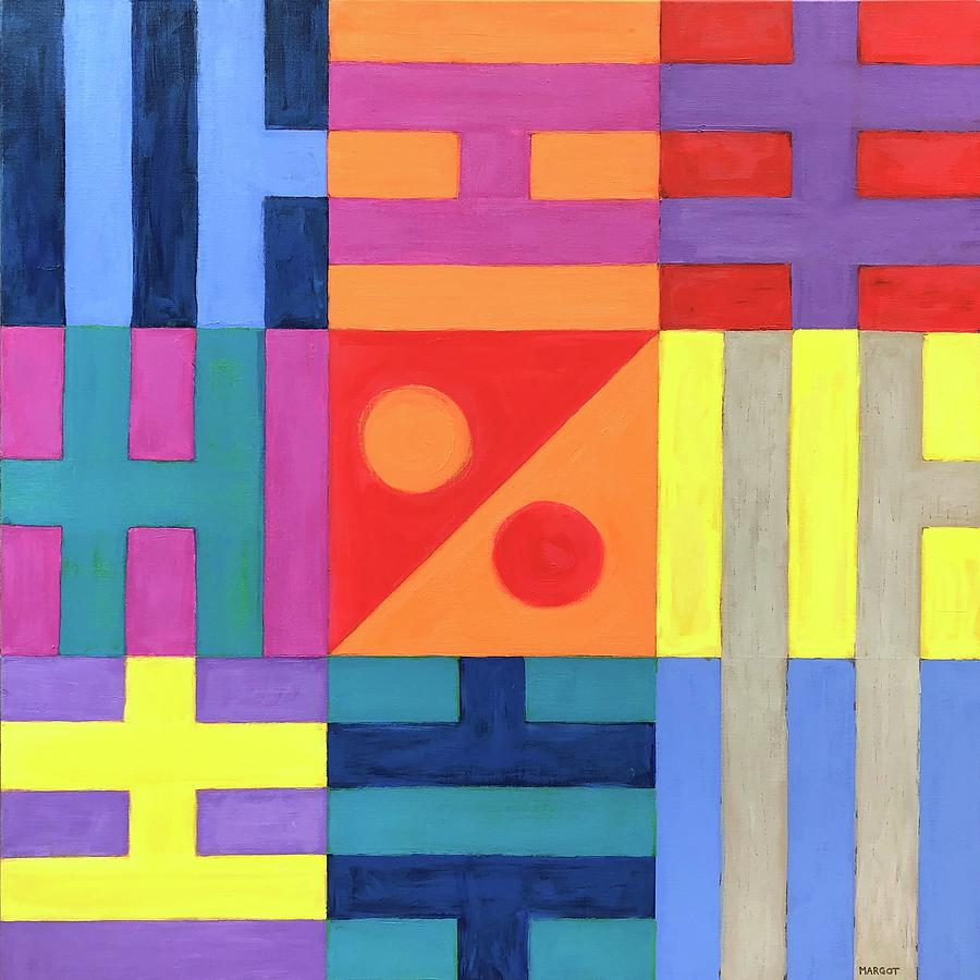 Colorful Painting - Bagua Reimagined by Margot Sappern