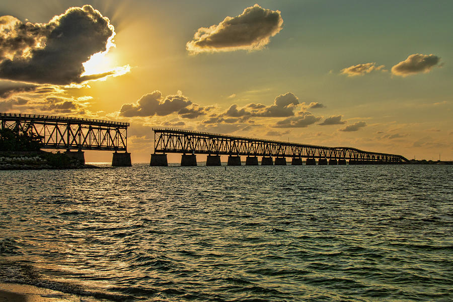 Bahia Honda Bridge At Sunset by Kristia Adams