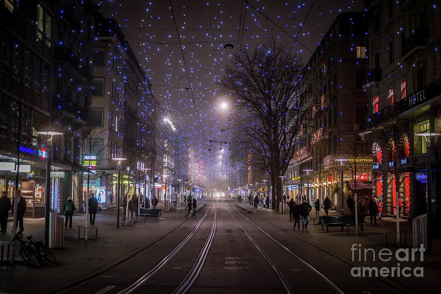 Bahnhofstrasse Zurich by Mirza Cosic
