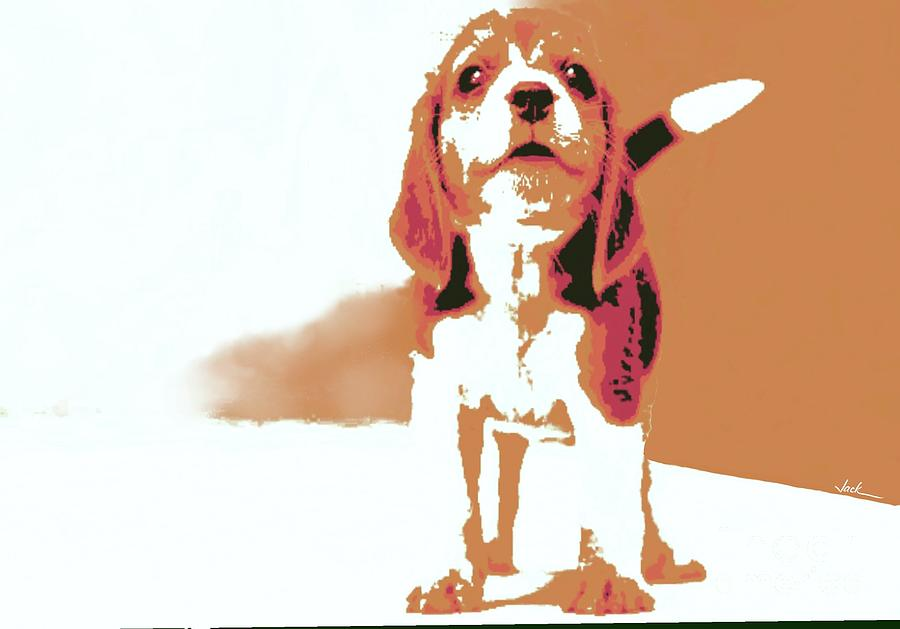 Beagle Painting - Bailey by Jack Bunds