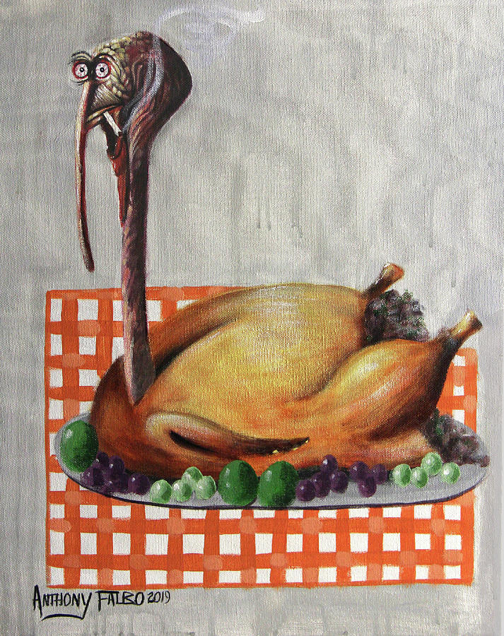 Cubism Painting - Baked Turkey by Anthony Falbo
