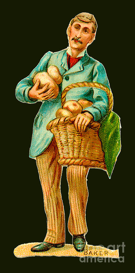 Baker Illustration Circa 1890 Painting
