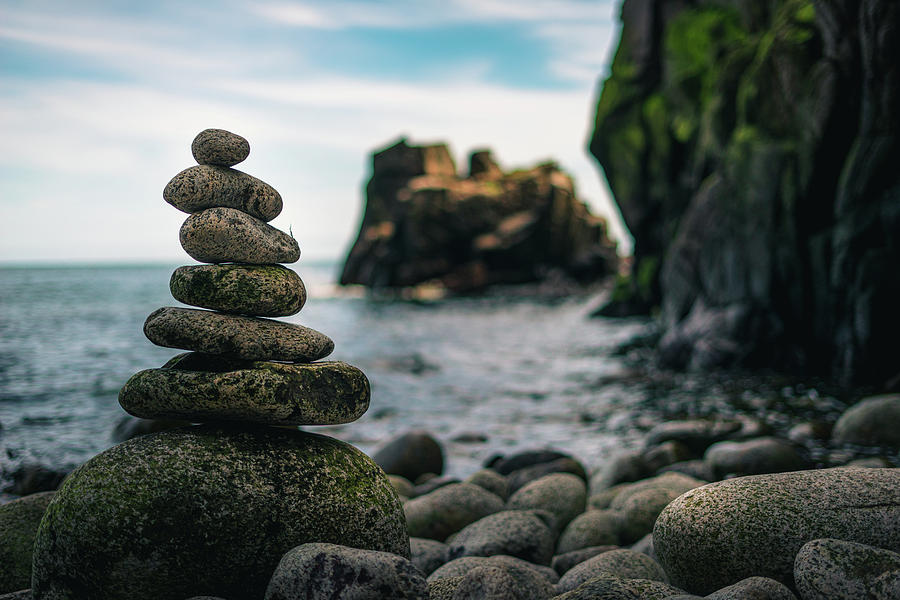 Stones Photograph - Balance In Bornholm by Julius Thomas