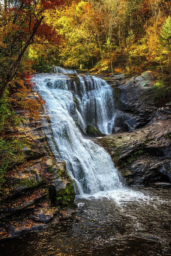Bald River Falls in Autumn Colors  by Debra and Dave Vanderlaan