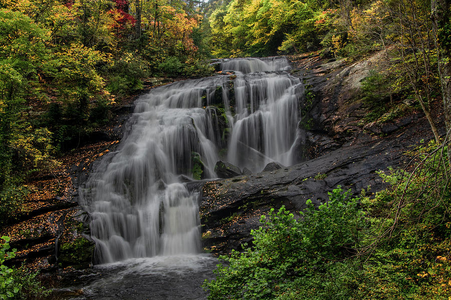 Bald River Falls In Autumn Photograph