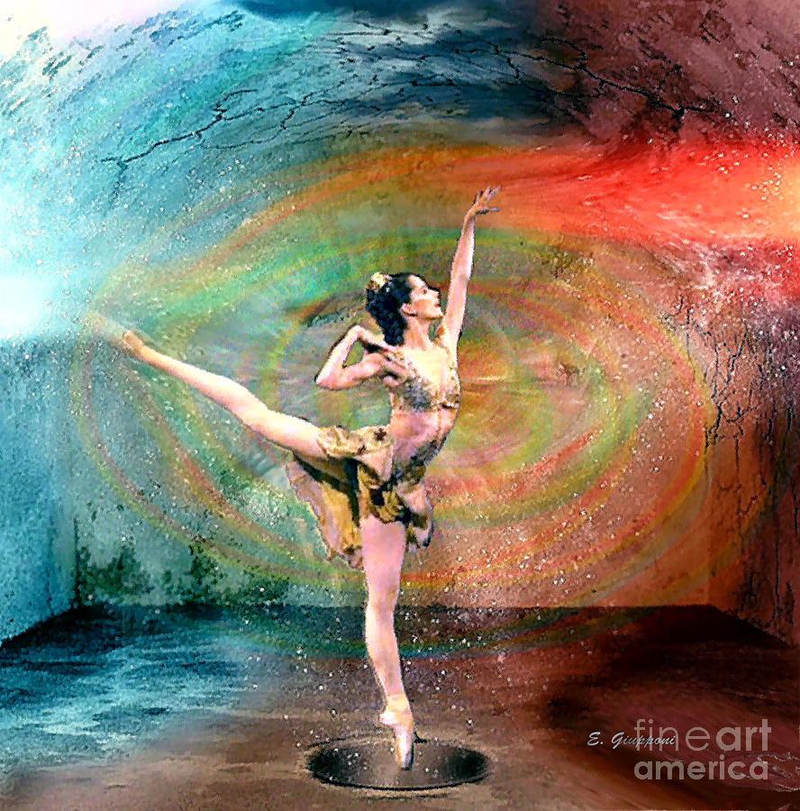 Ballerina Mixed Media - Ballerina in Transition by Elizabeth Giupponi