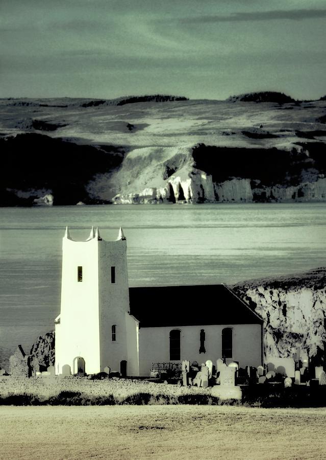 Ballintoy Church With Rathlin Island Behind. Northern Ireland Photograph