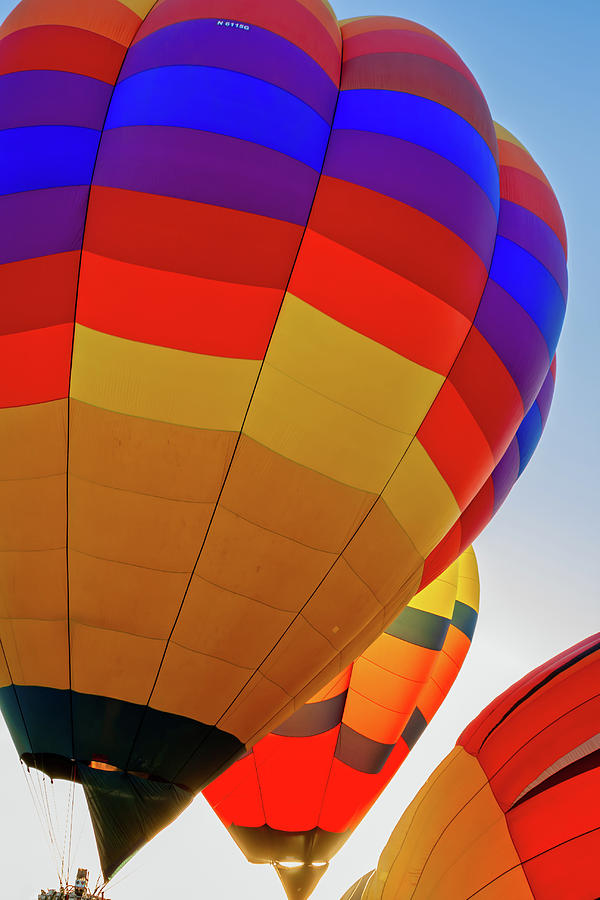 Arizona Photograph - Balloons Rising by Jack and Darnell Est