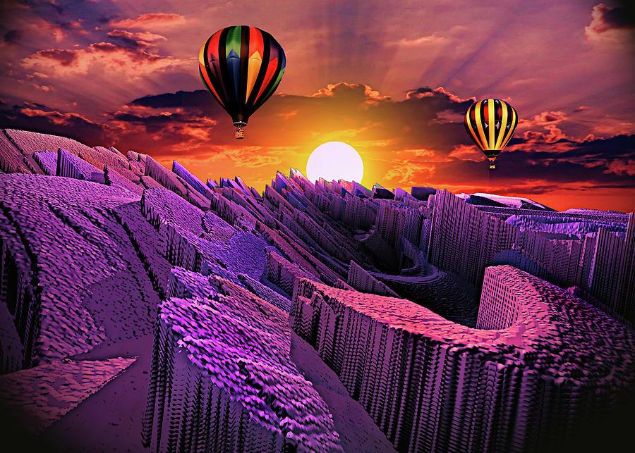 Balloon Adventure Above Paradise Isle Digital Art