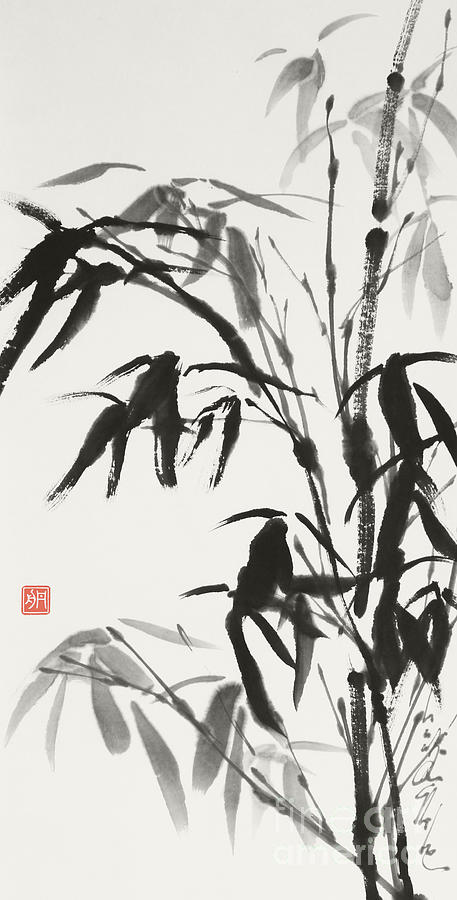 Bamboo Painting - Bamboo after the Rain, A Gentle Spirit  by Nadja Van Ghelue