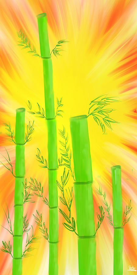 Bamboo Digital Art - Bamboo by Suraj Gupta