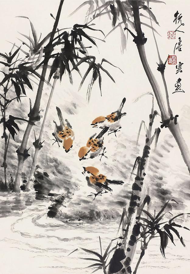 Bamboo Painting - Bamboo  by Tang Yun