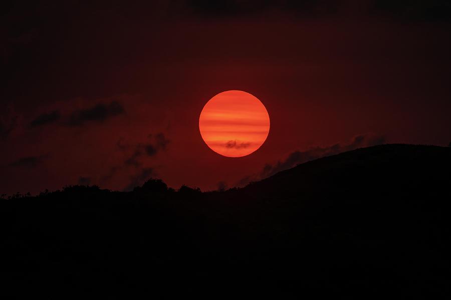 Bamded Sunset by Mark Hunter
