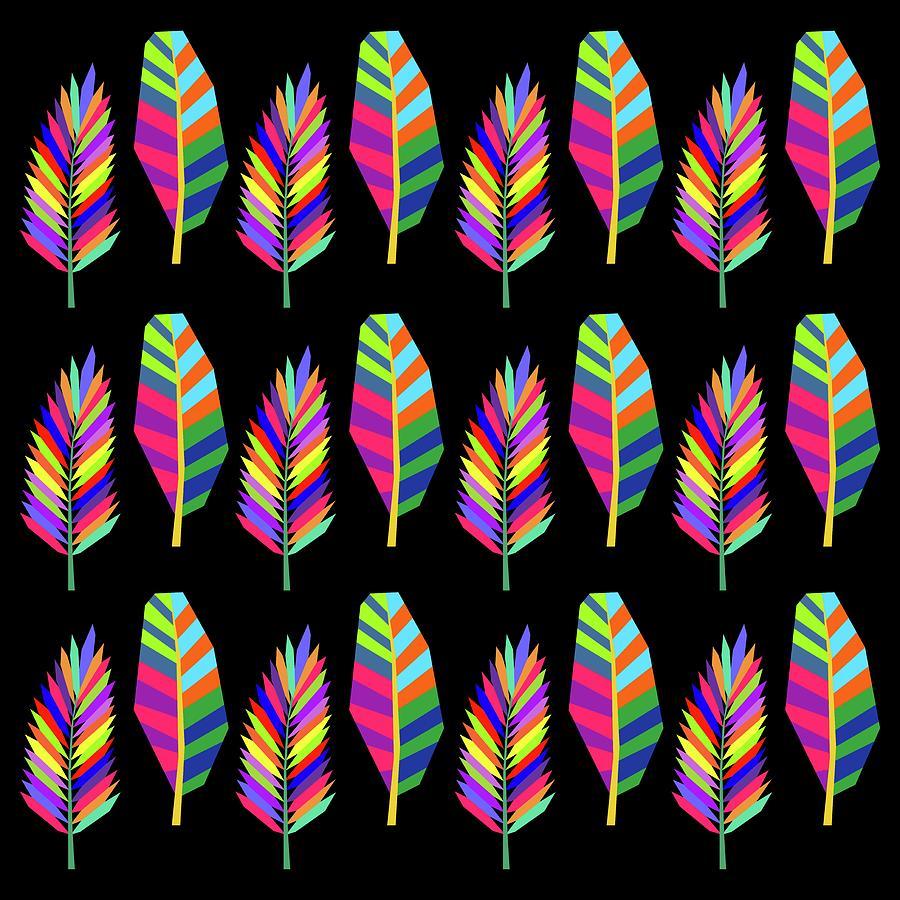 Banana And Palm Leaves Pattern 1 Digital Art