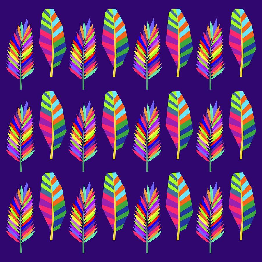 Banana And Palm Leaves Pattern 2 Digital Art