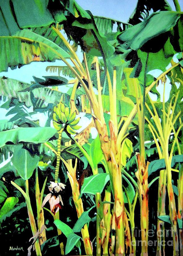 Banana Tree Painting - Banana tree by Jose Manuel Abraham