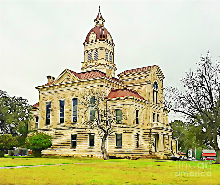 Bandera County Courthouse Texas by Tracy Ruckman