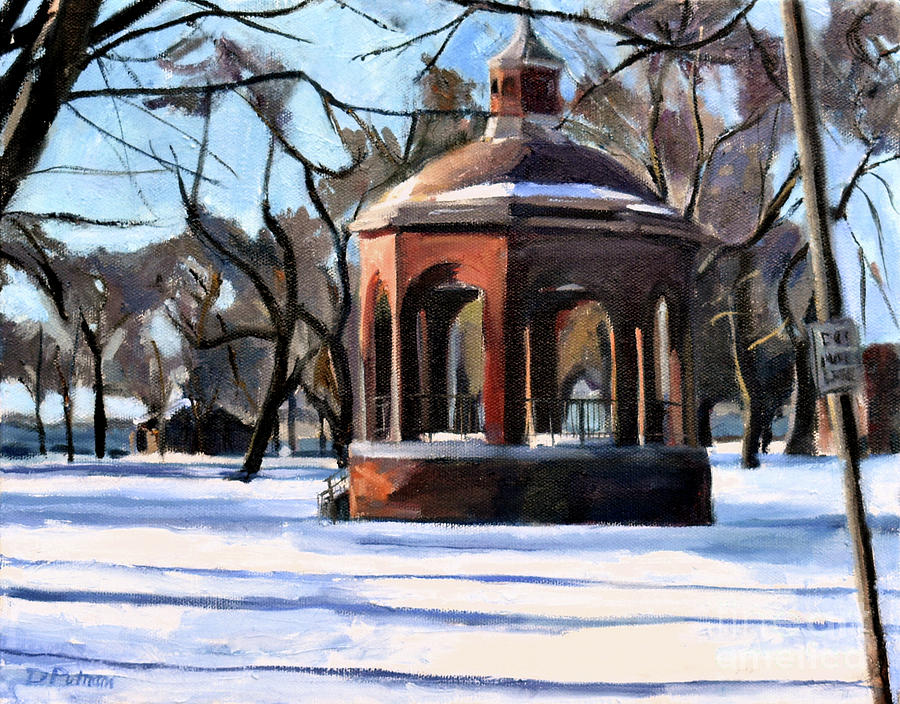 Bandstand in Snow by Deb Putnam