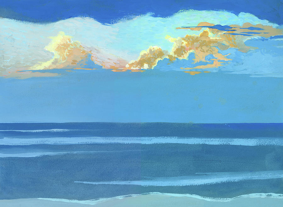Seascape Painting - Bank of Sun Clouds by Catherine Twomey