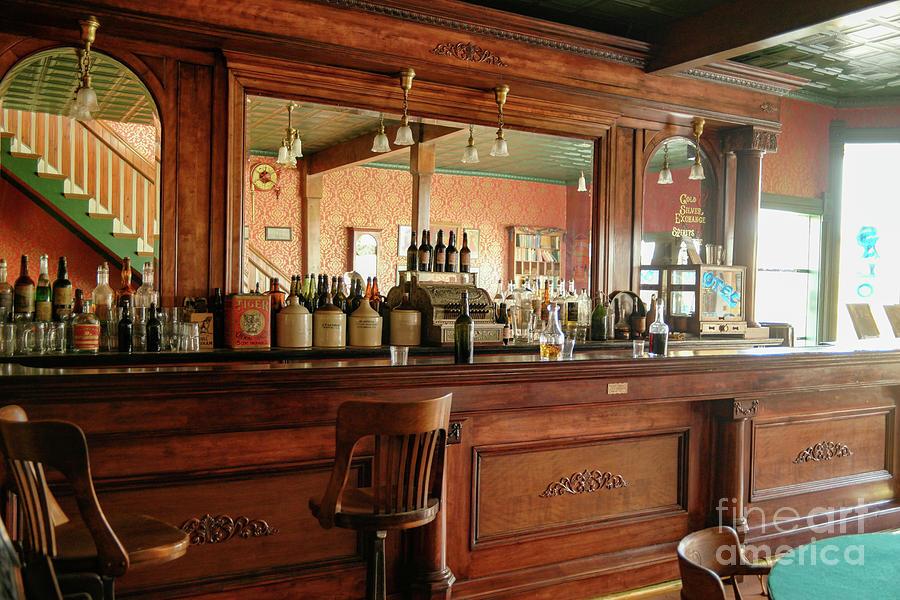 Bar Photograph - Bar Scene In The Old Days by Jeff Swan