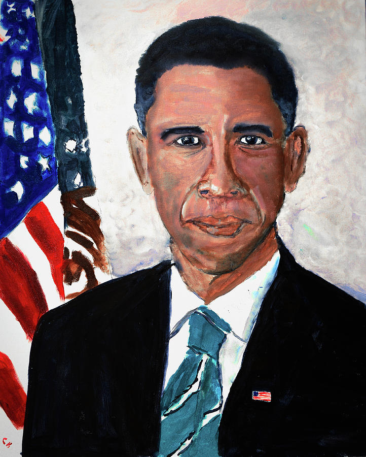 Barack Obama Painting - Barack Obama Portrait by Chance Kafka