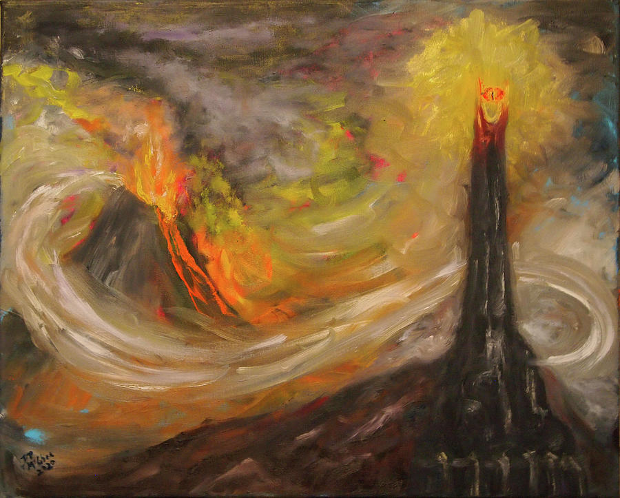 Lord Of The Rings Painting - Barad-dur by David McGhee