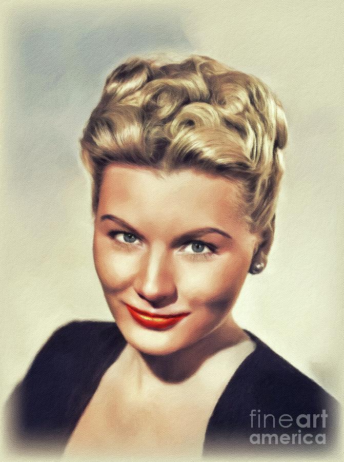 Barbara Payton, Vintage Actress Painting