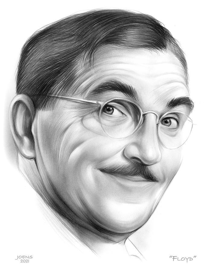 Floyd Drawing - Barber Floyd - pencil by Greg Joens