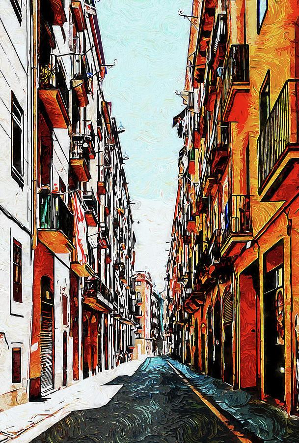 Barcelona, Gothic Quarter - 15 Painting