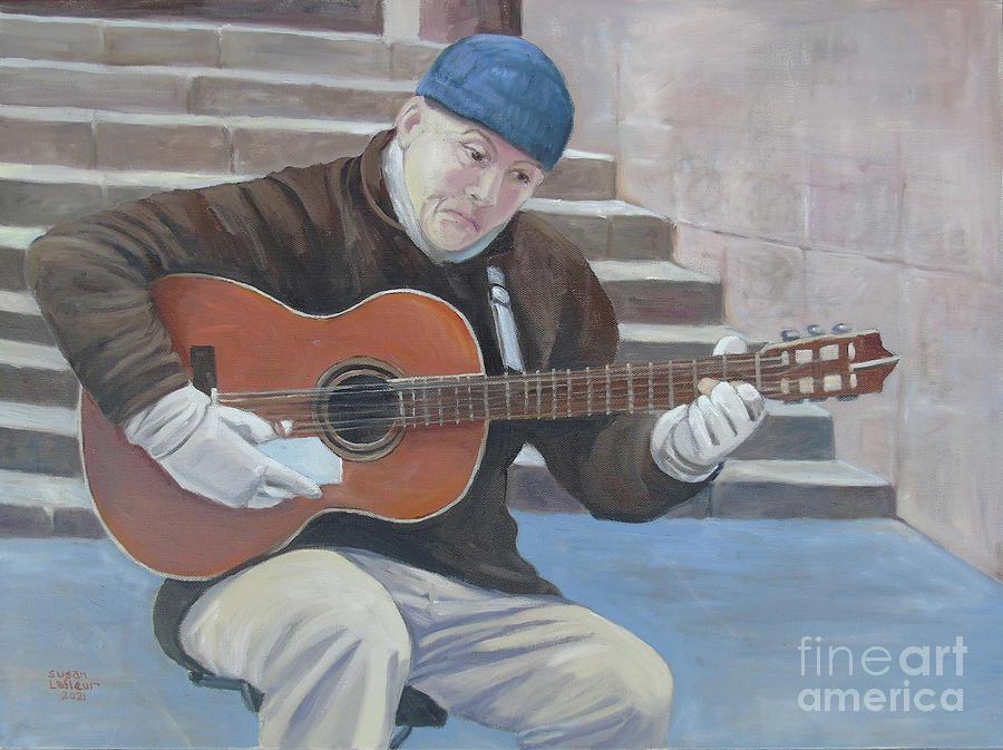 Barcelona Guitar Painting