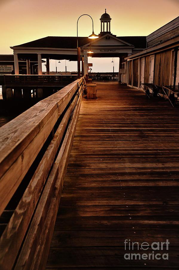 Pier Photograph - Barely Lit by Steven Norris