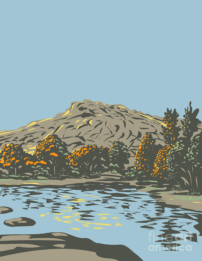 Barker Dam Within The Wonderland Of Rocks In Joshua Tree National Park Located In California Wpa Poster Art Digital Art