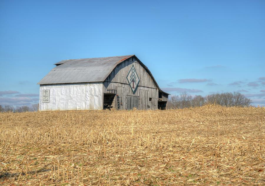 Barn Across The Cornfield Photograph